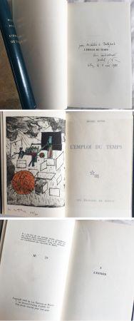 Иллюстрированная Книга Matta - Michel Butor. L'EMPLOI DU TEMPS (1 des 40 avec l'eau-forte rehaussée de Matta) 1956.