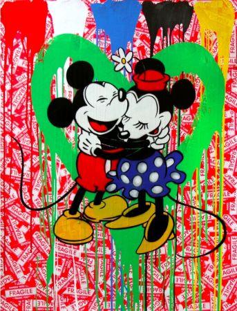 Многоэкземплярное Произведение Mr. Brainwash - Mickey & Minnie