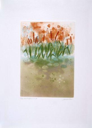 Офорт Walker - Midi flowers III
