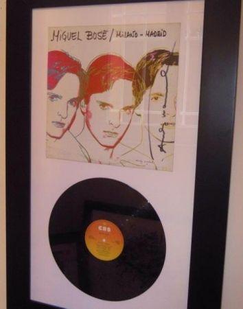 Многоэкземплярное Произведение Warhol - Miguel Bosè. Milano/Madrid