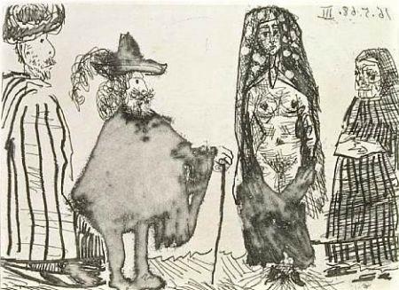 Офорт И Аквитанта Picasso - Mille et une nuits et Celestine: la jeune esclave