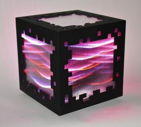 Гравюра На Дереве Chevalier - Mini voxels light red