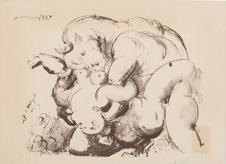 Литография Picasso (After) - Minotaur