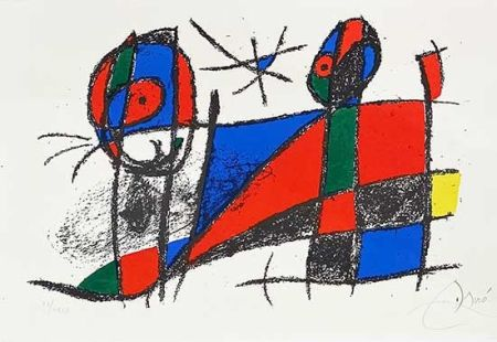 Литография Miró - Miro lithographe