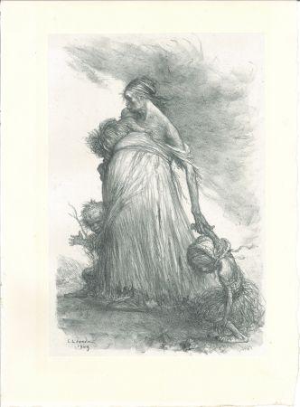 Литография Léandre - Misère fertile — Sol stérile (Fertile Misery—Sterile Earth)