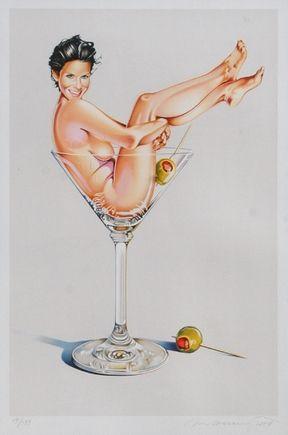 Литография Ramos - Miss Martini II