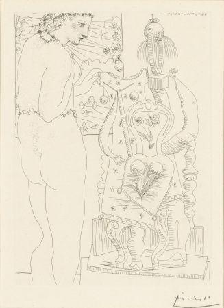 Офорт Picasso - Modele et sculpture surrealiste