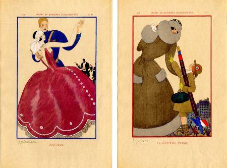 Иллюстрированная Книга Lepape - MODES ET MANIÈRES D'AUJOURD' HUI. Années de Guerre. 1914-1919