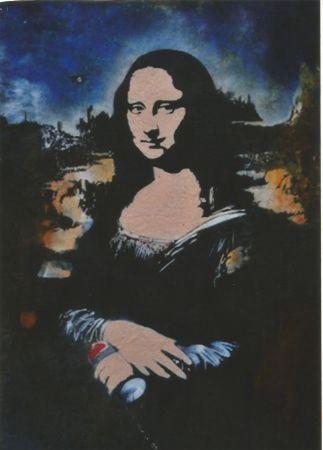 Сериграфия Blek Le Rat - Mona Lisa