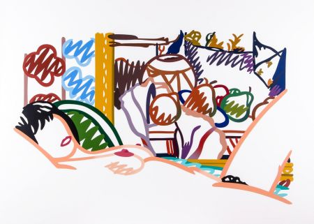 Сериграфия Wesselmann - Monica Nude with Cezanne