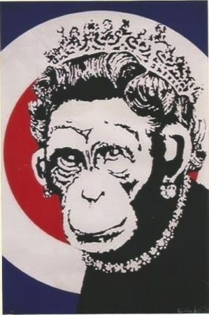 Сериграфия Banksy - Monkey Queen