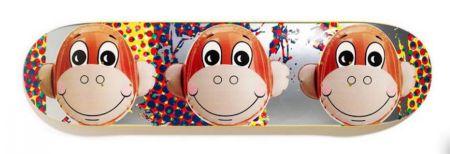 Сериграфия Koons - Monkey Train Skate Deck