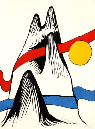 Литография Calder - Montagne et Soleil