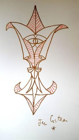 Литография Cocteau - Montagnes Marines