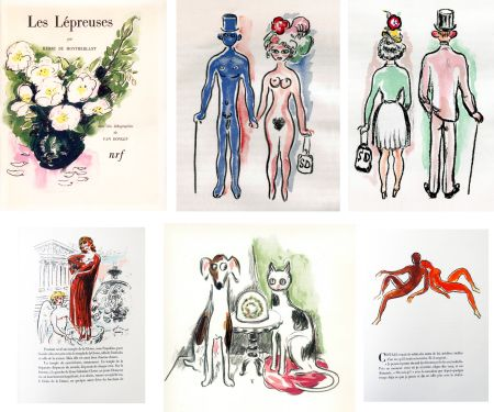 Иллюстрированная Книга Van Dongen - Montherlant. LES LÉPREUSES. 25 lithographies originales en couleurs (1947)