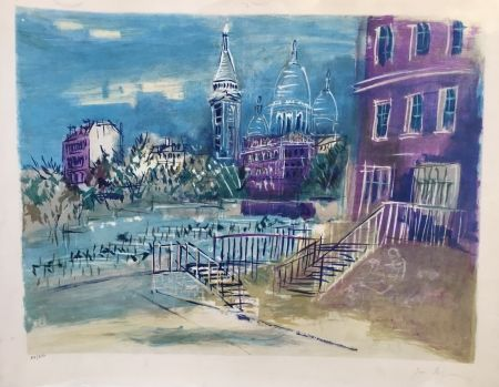 Литография Dufy - Montmartre