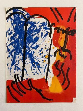 Литография Chagall - Moses