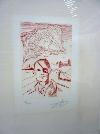 Гравюра Dali - Moshe Dayan (Five Famous Heads)