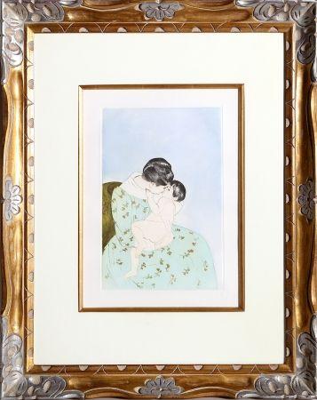 Гравюра Cassatt - Mother's Kiss