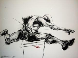 Литография Velickovic - Mouvement