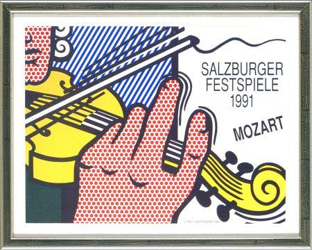Литография Lichtenstein - Mozart - Salzburg