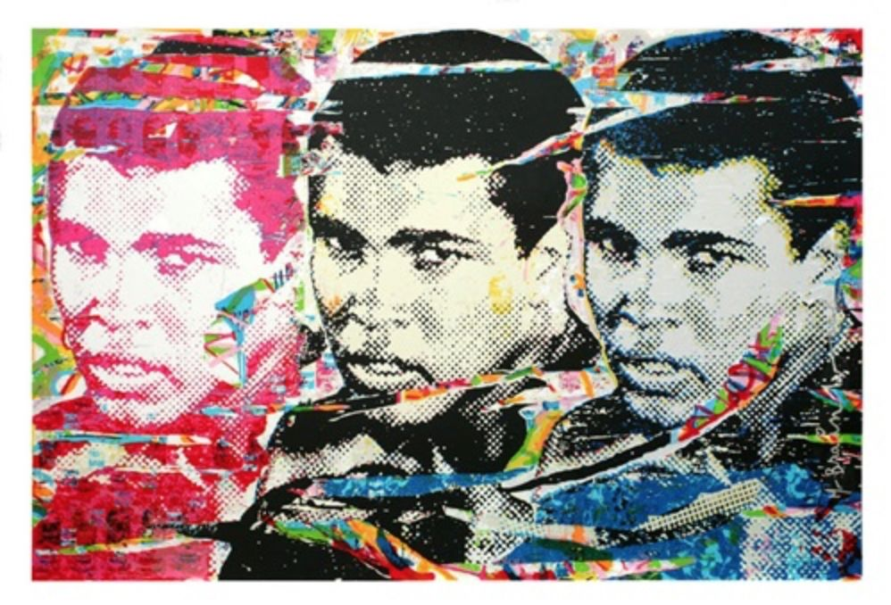 Сериграфия Mr Brainwash - Muhammad Ali – The Champ