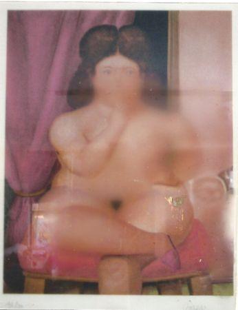 Литография Botero - Mujer fumando