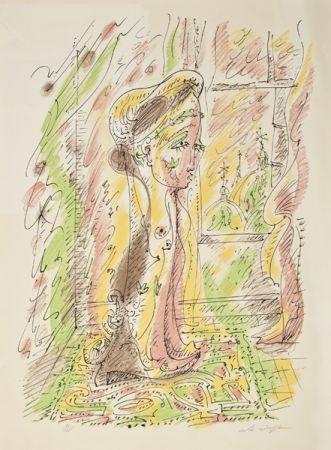 Литография Masson - Mujer junto a la ventana