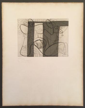 Офорт И Аквитанта Le Corbusier - Murale (hand-signed & numbered)