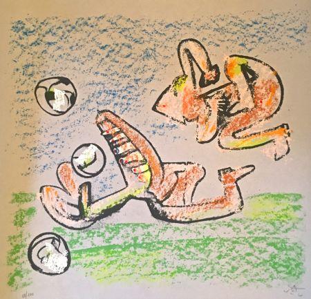 Литография Matta - Music foot II