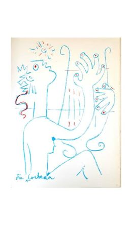 Литография Cocteau - Musicien