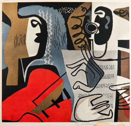 Гашение Le Corbusier - Musiciennes (hand-signed)