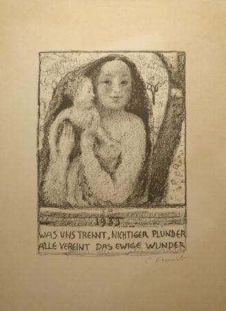 Литография Amiet - Mutter und Kind