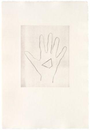 Гравюра Сухой Иглой Monk - My Left Hand Holding a Piece 3