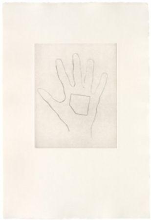 Гравюра Сухой Иглой Monk - My Left Hand Holding a Square 4