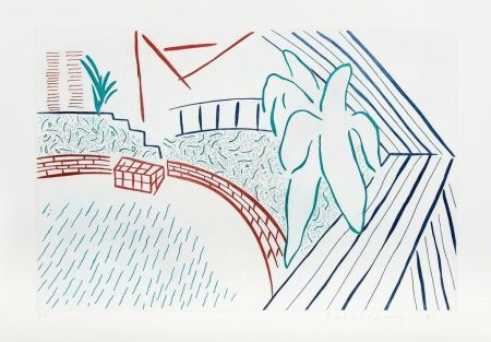 Офорт Hockney - My Pool and Terrace