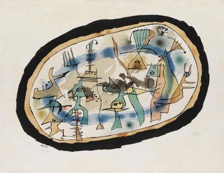 Литография Miró - Naissance du jour