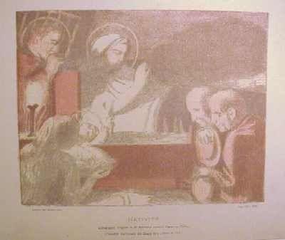 Литография Denis - Nativité