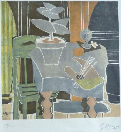 Литография Braque - Nature Morte A La Palette