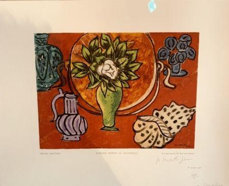Гравюра На Дереве Matisse - Nature morte au Magnolia