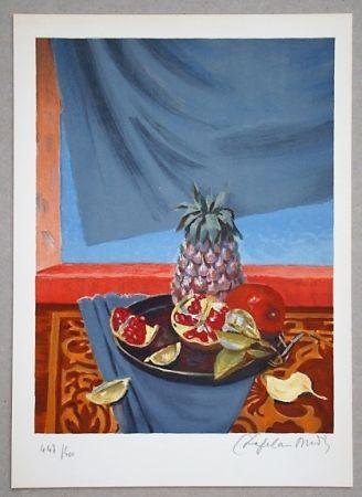 Литография Chapelain-Midy - Nature Morte aux Ananas et Grenades