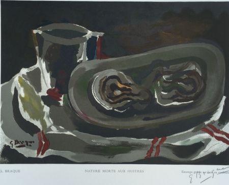 Гравюра На Дереве Braque - Nature Morte aux Huitres