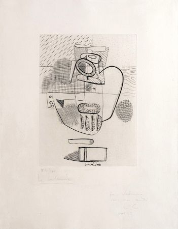 Гравюра Le Corbusier - Nature Morte (hand-signed, numbered, dedicated)