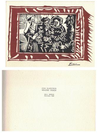 Линогравюра Picasso - '' Navidad 1963 ''