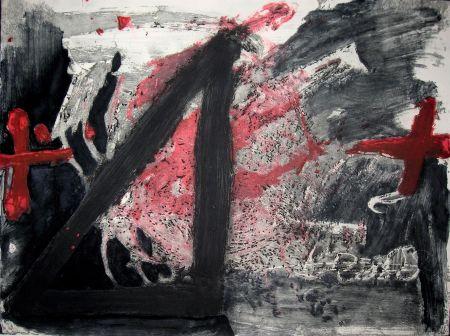 Офорт И Аквитанта Tapies - Negre i Roig