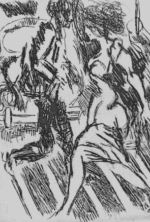 Офорт Guttuso - Nella strada