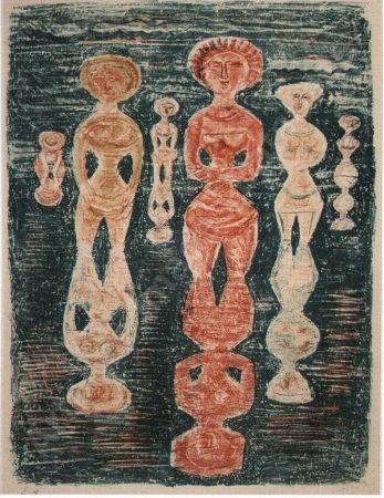 Литография Campigli - Nelle risaie