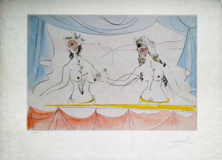 Гравюра Dali - New Mythological Suite/ Les Dames de la Renaissance