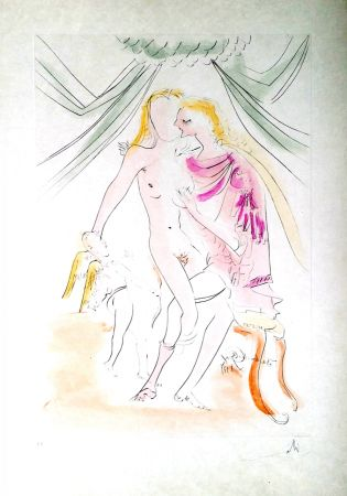 Гравюра Dali - New Mythological Suite/ Vénus, Mars et Cupidon (6)