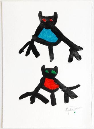 Литография Ionesco - New Year's Card 1987 / 1988